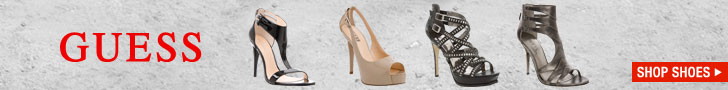 Guess Clothing - Footwear 728X90